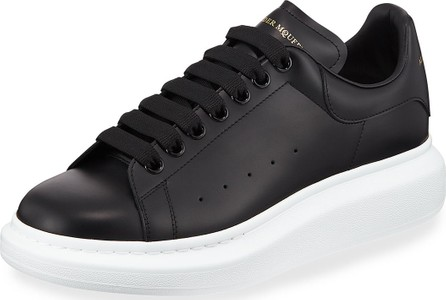 Alexander McQueen Men's Bicolor Leather Low-Top Sneakers