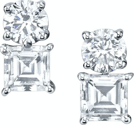 Anita Ko Large diamonds & step-cut asscher 2 dot earring