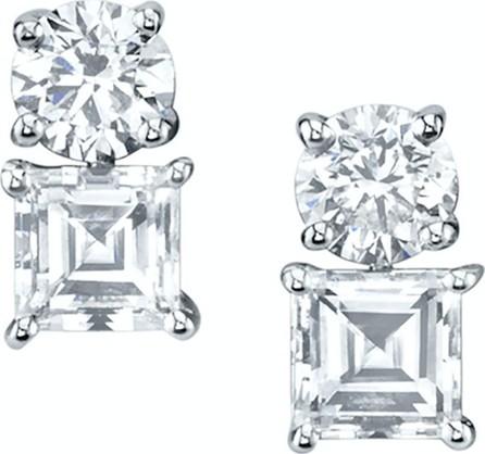 Anita Ko Large diamonds & step-cut asscher 2 dot earring