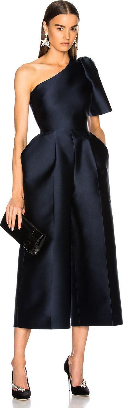 Stella McCartney Kallie Silk Mix One Shoulder Jumpsuit