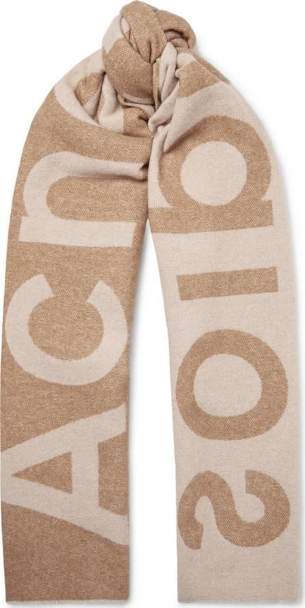 Acne Studios Toronty Oversized Logo-Intarsia Wool-Blend Scarf