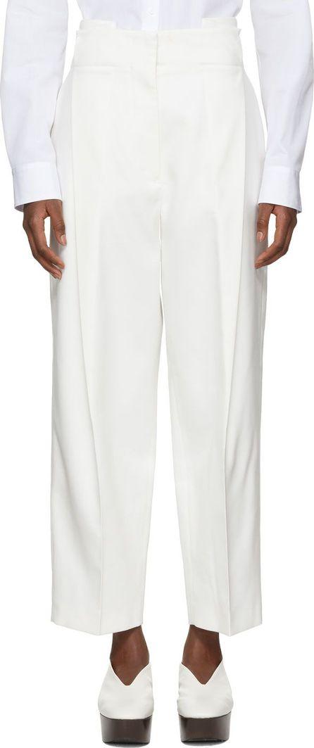 Jil Sander Off-White Pinch Trousers