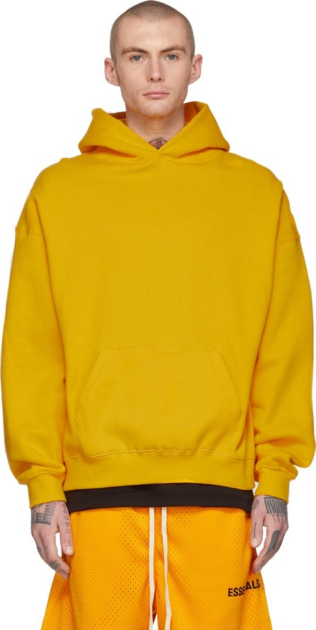 Essentials Yellow Logo Hoodie