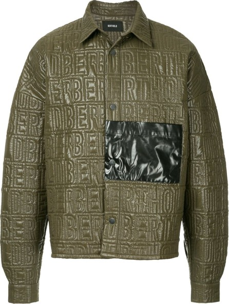 Berthold Quilted Logo shirt jacket