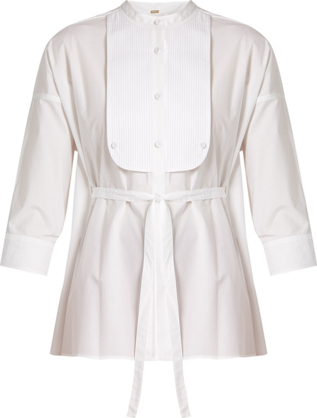 Adam Lippes Tie-waist cotton-poplin shirt
