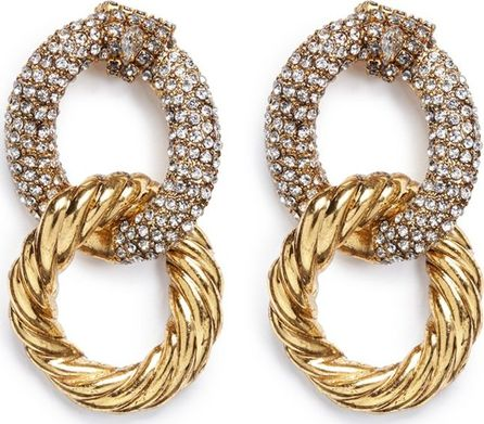Erickson Beamon Swarovski crystal interlocking hoop earrings