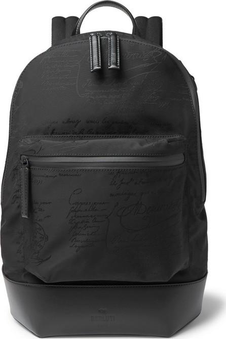 Berluti Volume Leather-Trimmed Nylon Backpack