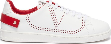 Valentino 'Go Logo' perforated leather sneakers