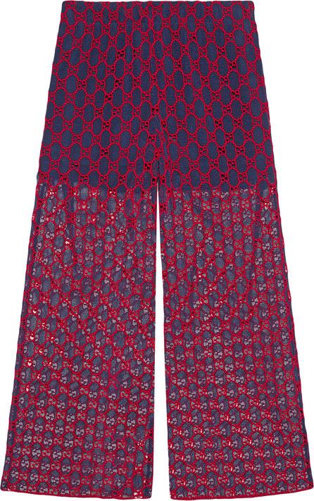 Gucci GG macramé wide-leg pants