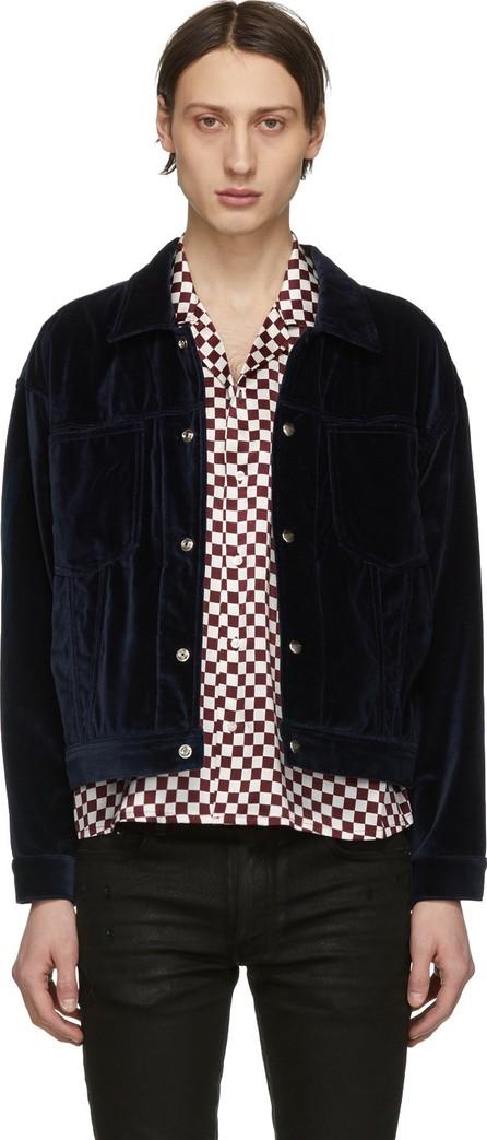 Enfants Riches Deprimes Blue Velvet Jacket
