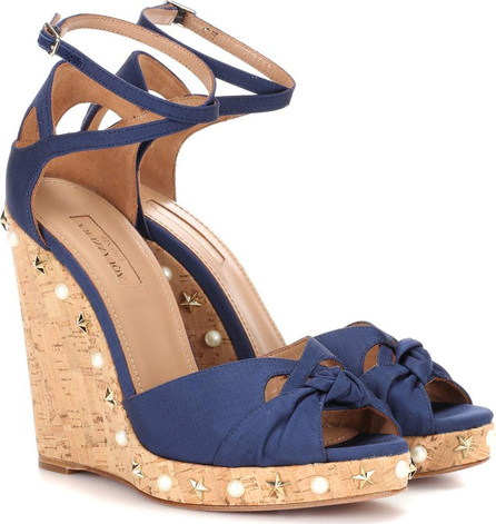 Aquazzura Harlow Wedge 115 wedge sandals