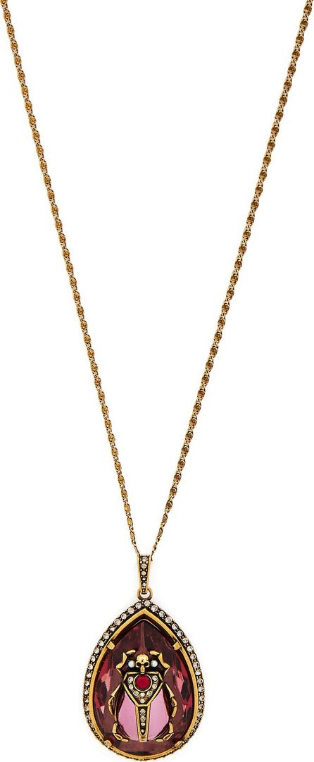 Alexander McQueen Scarab crystal and faux-pearl necklace