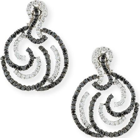 Andreoli 18k White Gold Black & White Diamond Earrings