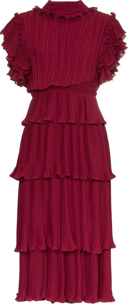 Johanna Ortiz Chants ruffle detail silk dress