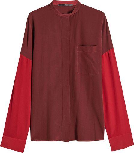 Haider Ackermann Oversized Two-Tone Silk Blouse
