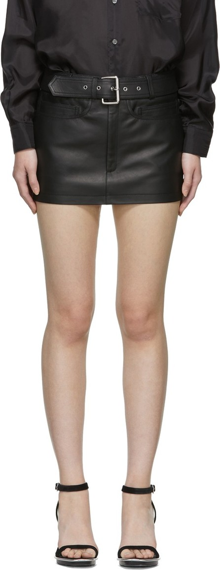 Alexander Wang Black Moto Miniskirt