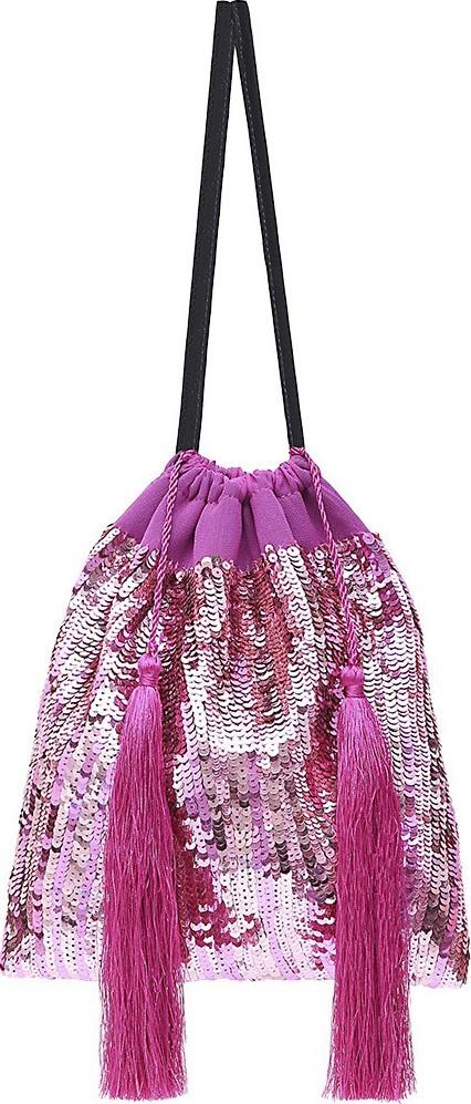 Attico sequin pouch bag