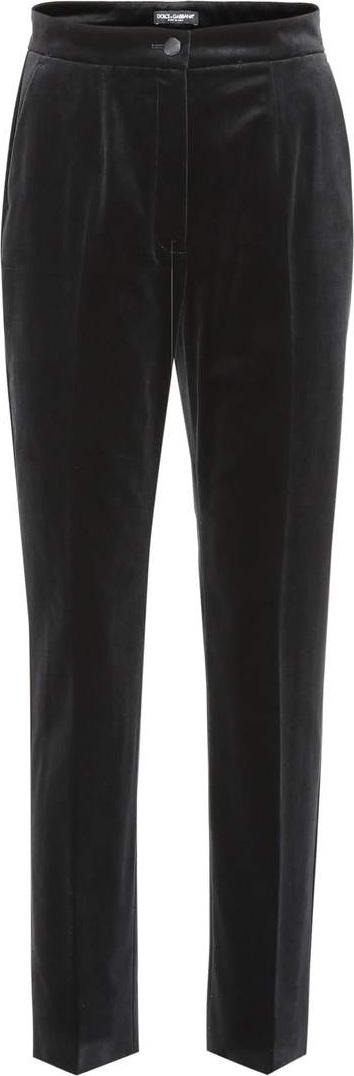 Dolce & Gabbana Velvet straight-leg pants