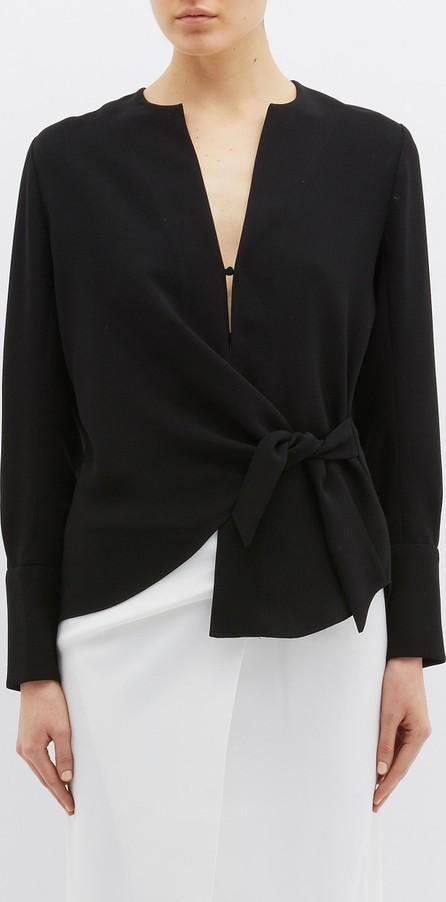 Bianca Spender Tie waist crepe top