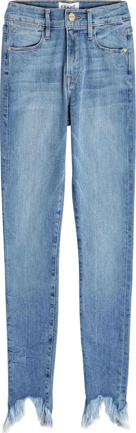 FRAME DENIM Le Skinny Stiletto Distressed Hem Jeans