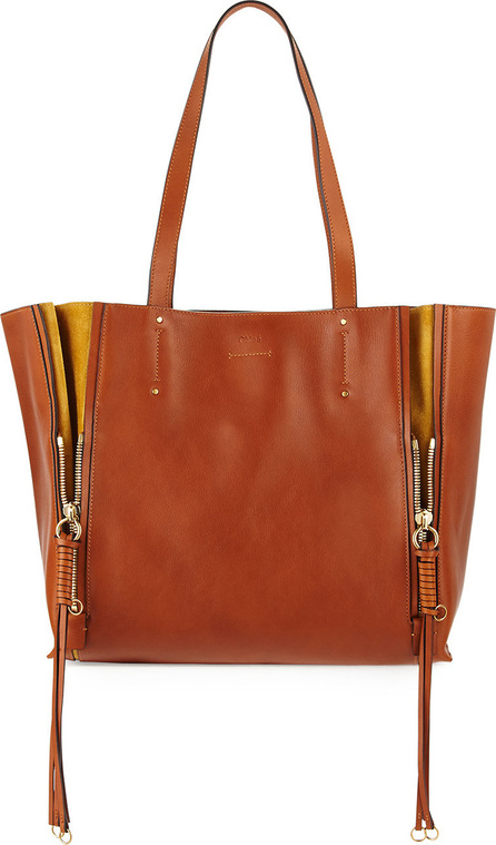 Chloe Milo Medium Leather & Suede Tote Bag