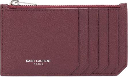 Saint Laurent Paris leather zip-top wallet