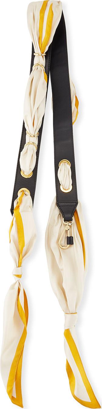 Chloe Solid Scarf Leather Shoulder Strap For Handbag