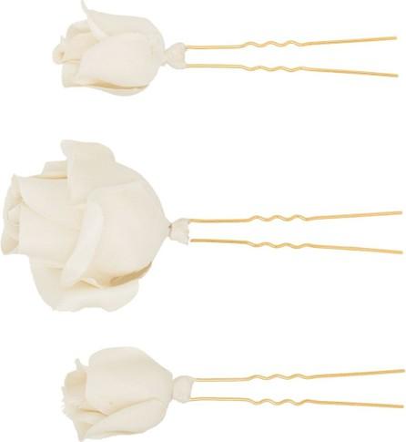 Jennifer Behr Rosalie flower hair pin set