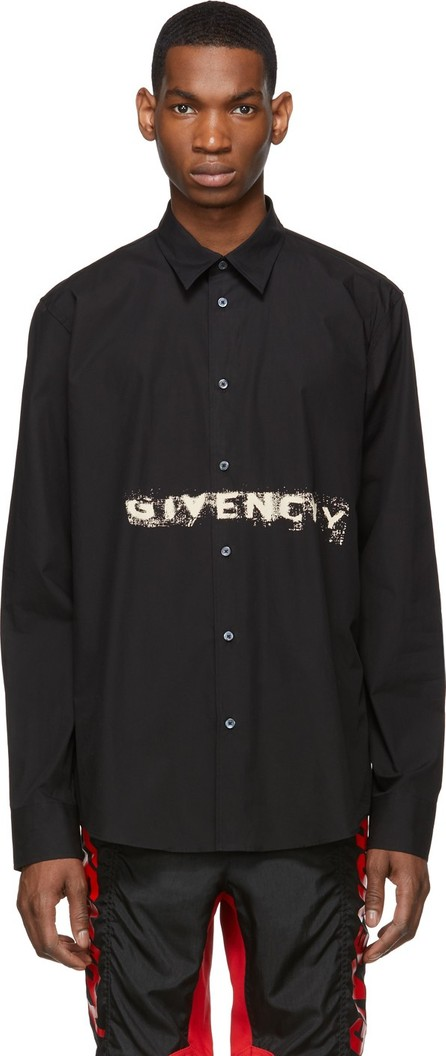 Givenchy Black Graffiti Logo Shirt