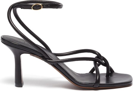 Neous Alkes square toe tubular strappy leather sandals