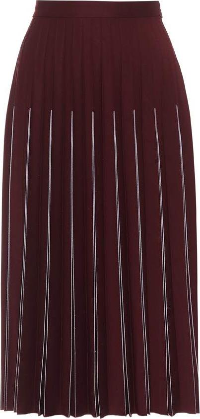 Bottega Veneta Pleated wool-blend midi skirt