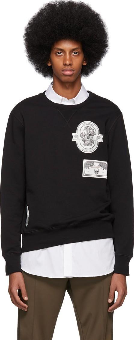Alexander McQueen Black Skull Patch Sweatshirt
