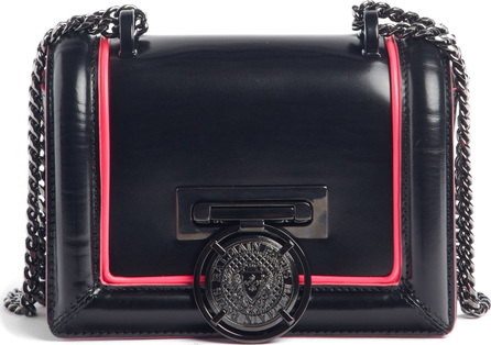 Balmain Baby Box Leather Shoulder Bag
