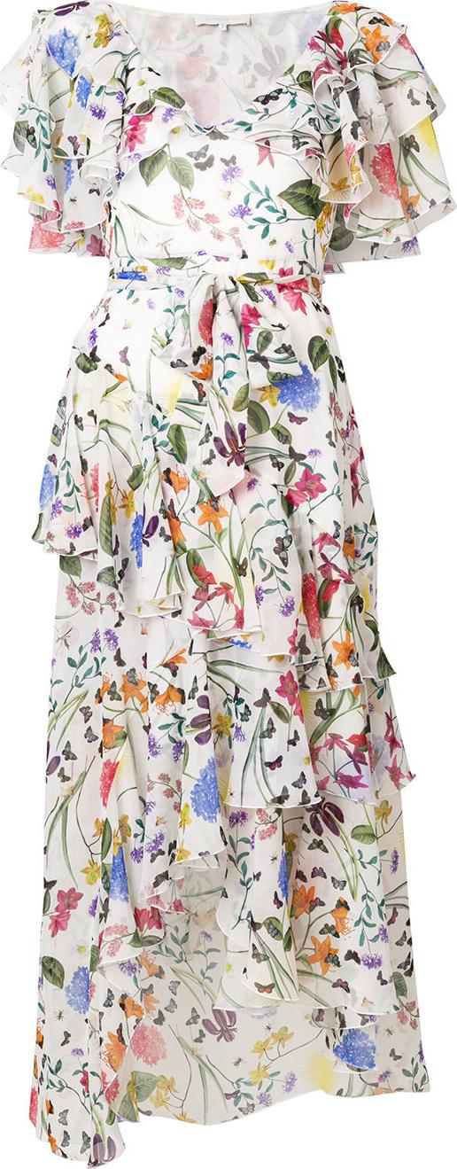 Borgo De Nor - Floral print frill dress