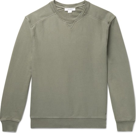 FRAME DENIM Distressed Loopback Cotton-Jersey Sweatshirt