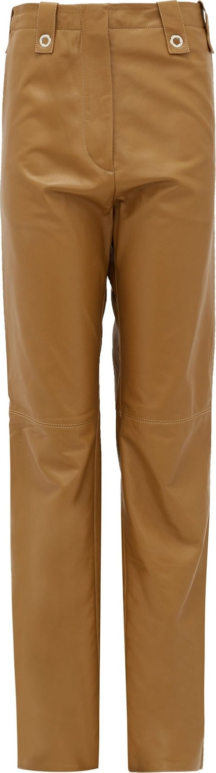 Ludovic De Saint Sernin Topaz waist-tab leather trousers