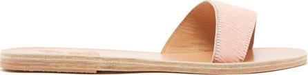 Ancient Greek Sandals Arsinoi leather & calf hair slides