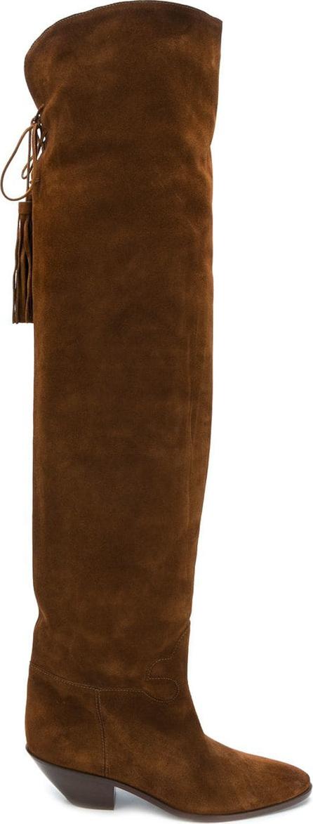 Saint Laurent Knee-length tassel boots