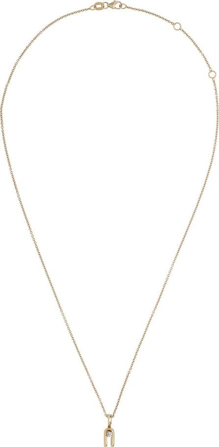 Istanboulli Gioielli Milano Anima 18k Yellow Gold 2-Prong Diamond Pendant Necklace