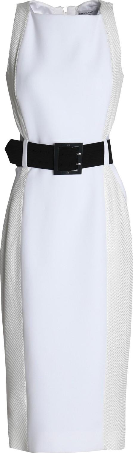 Amanda Wakeley Cutout woven-paneled cady dress