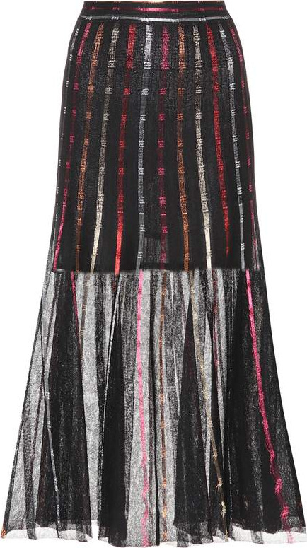 Alexander McQueen Silk-blend skirt