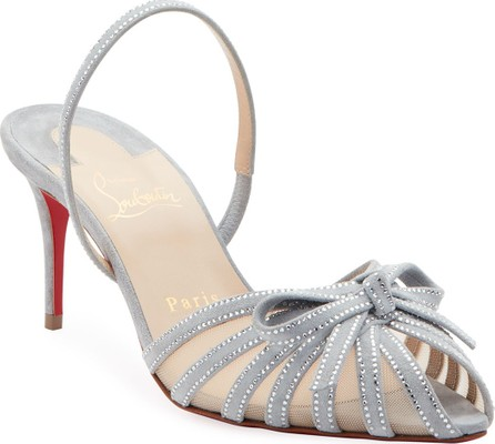 Christian Louboutin Araborda Suede Red Sole Sandals