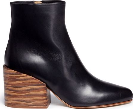 Gabriela Hearst 'Tito' streak effect wood heel leather ankle boots