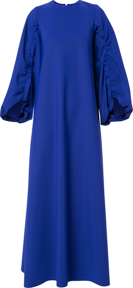 Greta Constantine Ruffle trim sleeves maxi dress