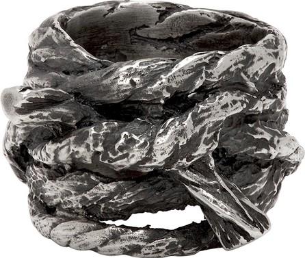 Ann Demeulemeester Silver Multi Rope Ring