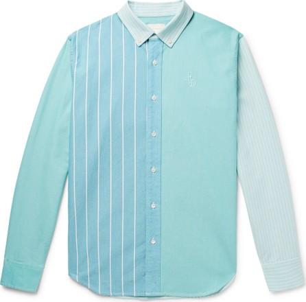 Aimé Leon Dore Slim-Fit Button-Down Collar Colour-Block Cotton Oxford Shirt