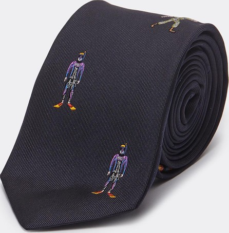 Paul Smith 'People' graphic embroidered silk tie