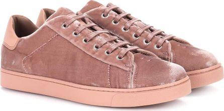 Gianvito Rossi Low Loft velvet sneakers