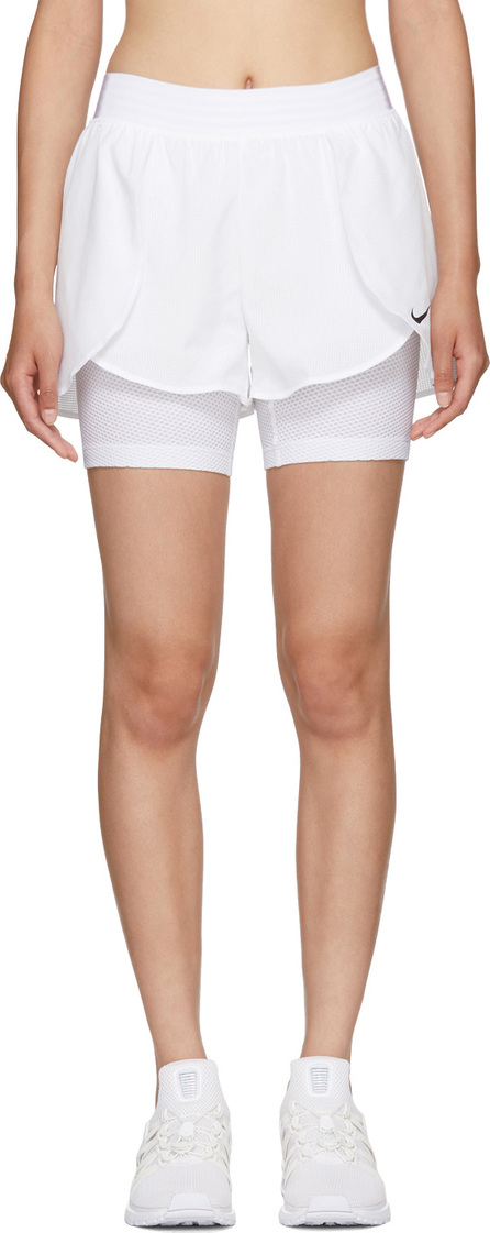Nike White Flex Bliss Gym Shorts