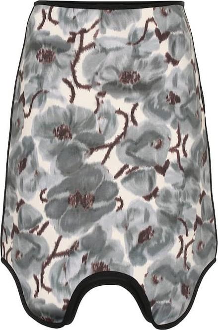 Calvin Klein 205W39NYC Asymmetric printed scuba skirt